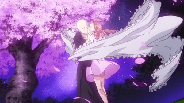 アニメ僧侶 夜桜を見上げるシーン